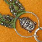 Buddha's Garden 1 Micro-Macrame Necklace by The Beading Yogini