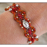Desert Sunrise Micro-Macrame Bracelet by The Beading Yogini