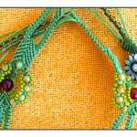Micro Macrame Bird Necklace 3 by the beading yogin