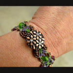 Vineyard knot micro-macrame bracelet by The Beading Yogini view No. 1