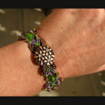 Vineyard knot micro-macrame bracelet by The Beading Yogini view No. 2