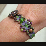 Vineyard knot micro-macrame bracelet by The Beading Yogini view No. 3