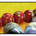 Red Lampwork Beads by The Beading Yogini