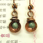 Copper and Lampwork Disc Earrings by The Beading Yogini