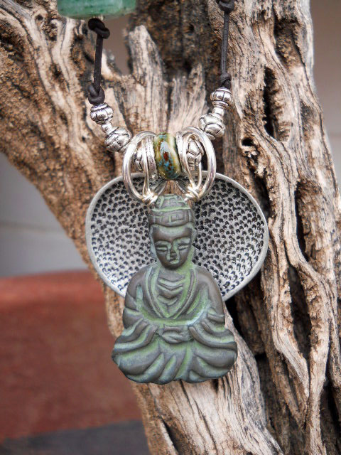 Buddha Necklace Pendant by The Beading Yogini