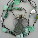 Buddha Necklace full by The Beading Yogini