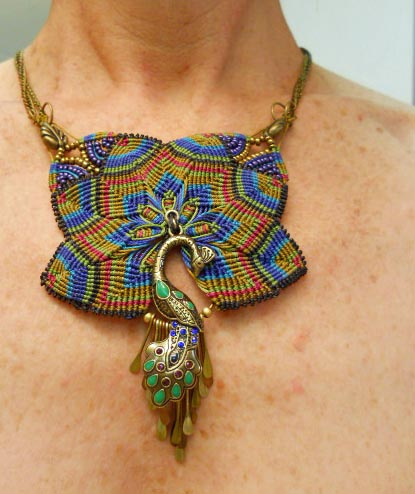 Feather Challenge Micro Macrame Necklace