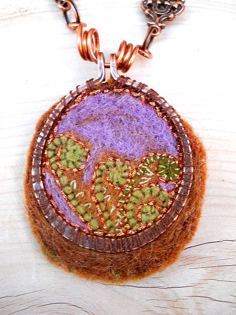 Forest Floor Challenge Focal by The Beading Yogini