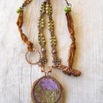 Forest Floor Challenge Necklace V1 by The Beading Yogini