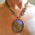 Forest Floor Challenge Necklace V2 by The Beading Yogini