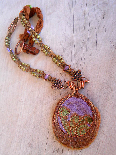 Forest Floor Challenge Necklace V4 by The Beading Yogini