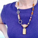 IBN Bee Challenge Long Necklace by The Beading Yogini