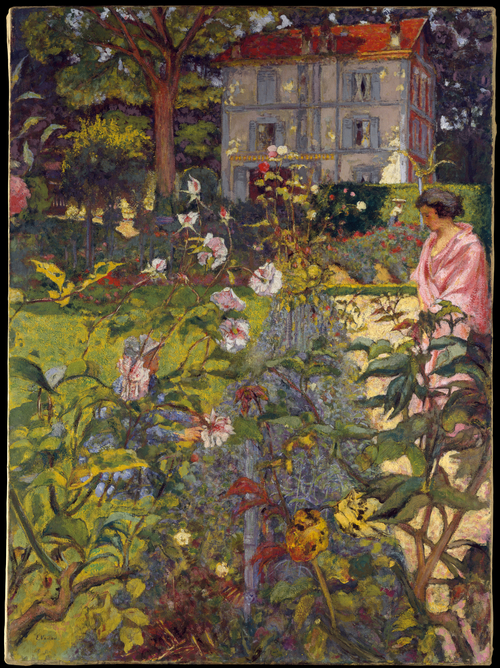Morning in the garden at Vaucresson by Edouard Vuillard