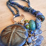 IBN Dragonfly Challenge Necklace by The Beading Yogini