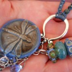 IBN Dragonfly Lampwork Bead Trio by The Beading Yogini