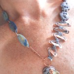 BN Sea Challenge Fish Monger's Wife Necklace Model by The Beading Yogini
