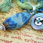 IBN Sea Challenge Waves Button Clasp by The Beading Yogini