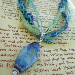 IBN Sea Challenge Waves Necklace Macrame And Ribbon by The Beading Yogini