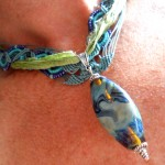 IBN Sea Challenge Waves Necklace Ribbon Side by The Beading Yogini