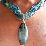 IBN Sea Challenge Waves Necklace Wispy Side by The Beading Yogini