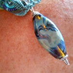 IBN Sea Challenge Waves focal Bead Side A by The Beading Yogini