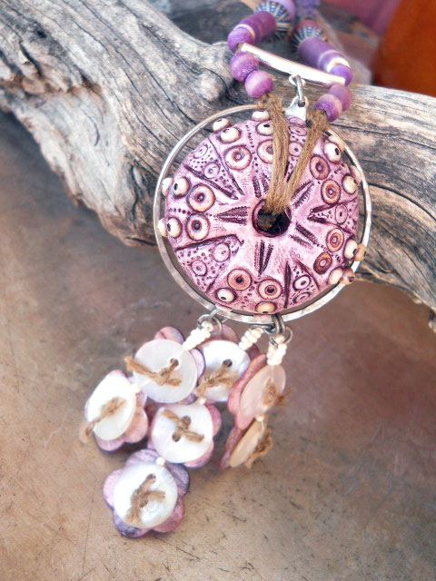 BN Sea Urchin Challenge Focal Bead by The Beading Yogini