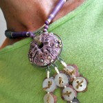 IBN Sea Urchin Challenge Necklace Worn G by The Beading Yogini
