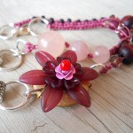 IBN Zen Garden Necklace Lucite Flower Link by The Beading Yogini