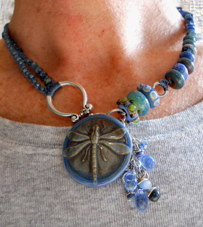 IBN Dragonfly Necklace Worn by The Beading Yogini