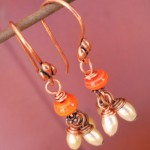 BN Tiger Lilies Earrings by The Beading Yogini