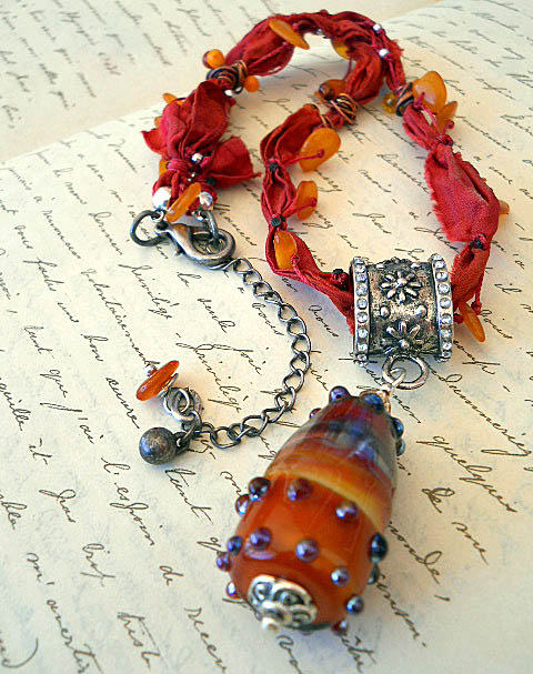 BSBP 2011 Amber Lust Necklace Full By The Beading Yogini