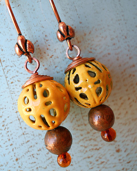 BSBP 2011 Enamel Earrings by The Beading Yogini