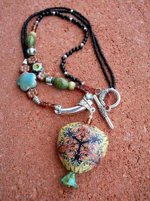 BSBP 2011 Polymer Clay Necklace Full by The Beading Yogini