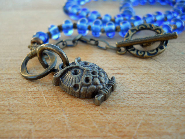 BlueHoot Necklace Close Up By The Beading Yogini