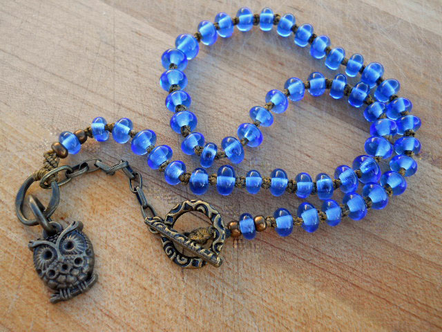 BlueHoot Necklace by The Beading Yogini