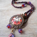 LB Challenge Lavendar Necklace Full View By The Beading Yogini