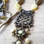 LB Challenge Owl Necklace Close Up By The Beading Yogini