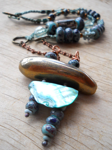 LB Challenge Pagoda Necklace View 2 By The Beading Yogini