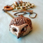 OCT ABS Hedgehog Necklace Front View by The Beading Yogini