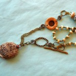 OCT ABS Hedgehog Necklace Full View by The Beading Yogini