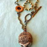 OCT ABS Hedgehog Necklace View A by The Beading Yogini