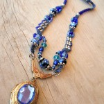 Blue Straggler Necklace Full by The Beading Yogini