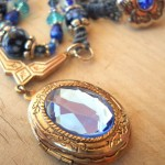 Blue Straggler Necklace Locket By The Beading Yogini