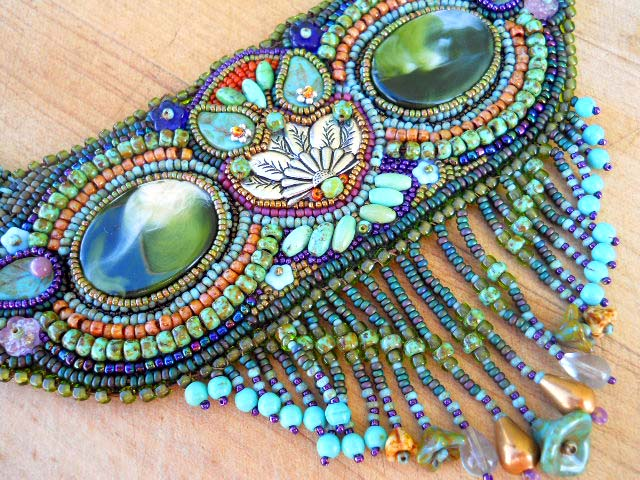 Owl Seed bead Necklace 1 by The Beading Yogini