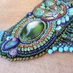 Owl Seed bead Necklace Cabs by The Beading Yogini