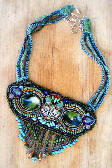 Owl Seed bead Necklace by The Beading Yogini