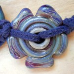 Blue Boro Disc Bead by The Beading Yogini