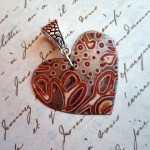 Dotted Heart by The Beading Yogini