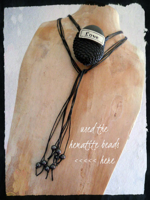 Hematite Love Necklace by The Beading Yogini