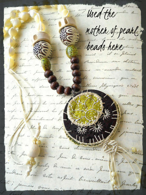 Succulent Necklace by The Beading Yogini